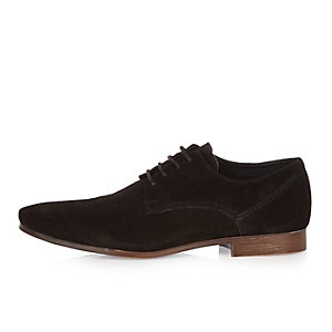 Black suede smart shoes
