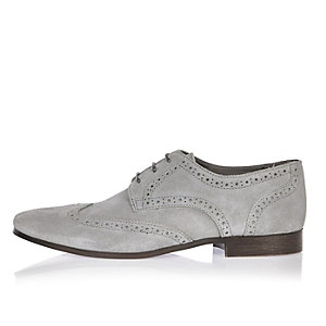 Grey suede smart shoes