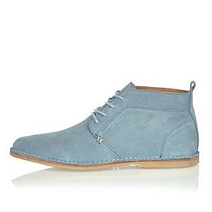 Light blue suede Chukka boots
