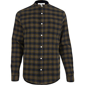 Green checked grandad shirt