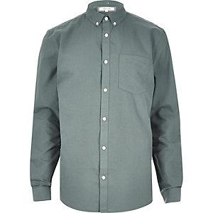 Grünes Oxford-Hemd