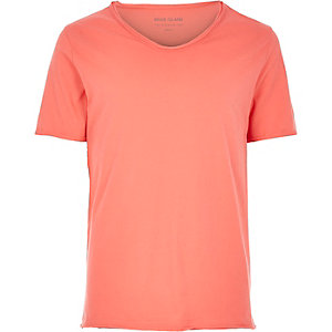 Orange scoop neck T-shirt