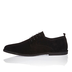 Black suede desert shoes