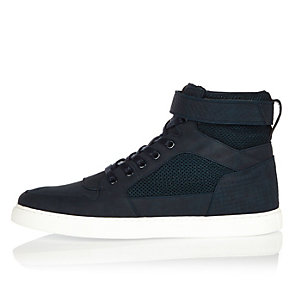 Navy mesh hi tops
