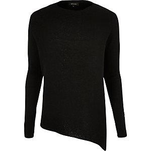 Black asymmetric tunic