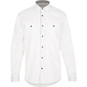 White crosshatch Western shirt