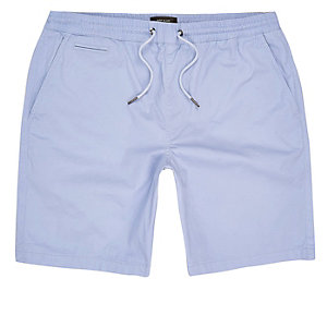 Light blue slim fit casual shorts