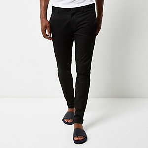 Black skinny chino pants