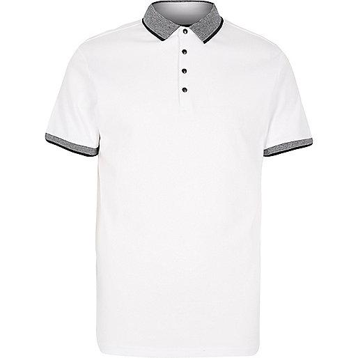 White slim fit polo shirt