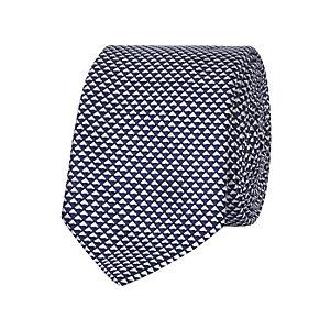 Blue textured tie