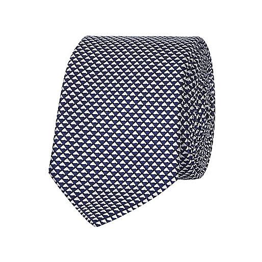 Cravate texturée bleue