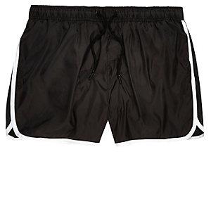 Black stripe runner swim shorts