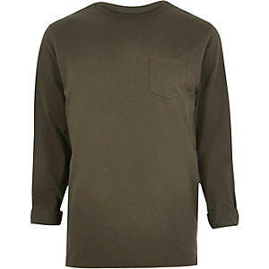 Khaki crew neck top
