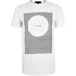 White order print t-shirt