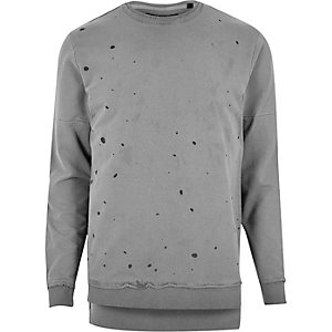 Black Only & Sons grey spot sweater