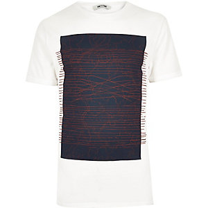 White Only & Sons net print t-shirt