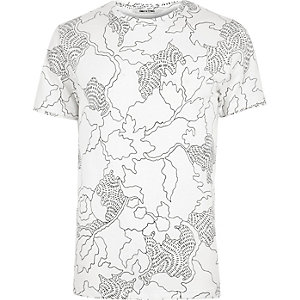 White Only & Sons print t-shirt