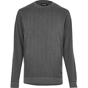 Black Only & Sons broken stripe sweatshirt