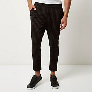 Black Only & Sons pinstripe slim fit pants