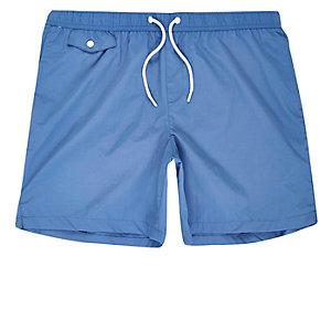 Blue pocket swim shorts