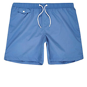 Blue pocket swim trunks