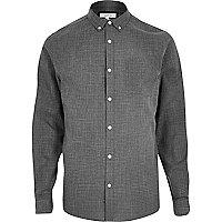 Casual, strukturiertes Hemd in Grau