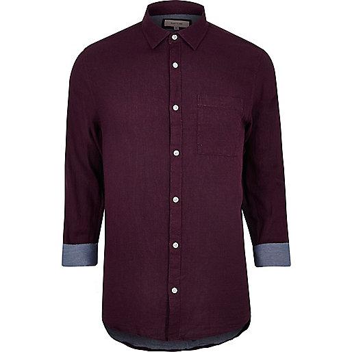 Burgundy double face shirt