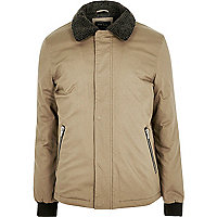 Stone fleece collar jacket