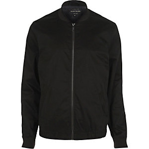 Black bomber jacket