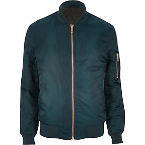 Dark turquoise bomber jacket