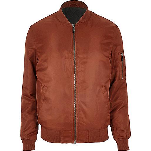 Rust bomber jacket