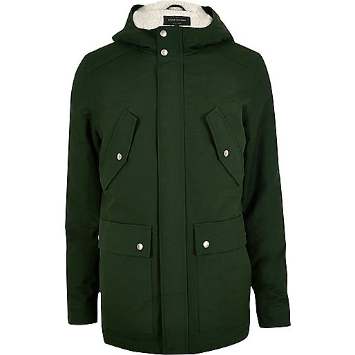 Green hooded jacket