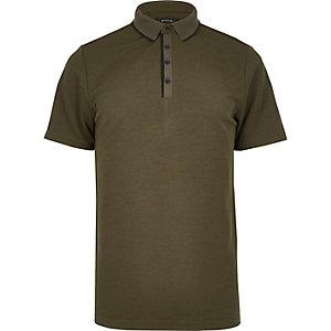 Khaki polo shirt