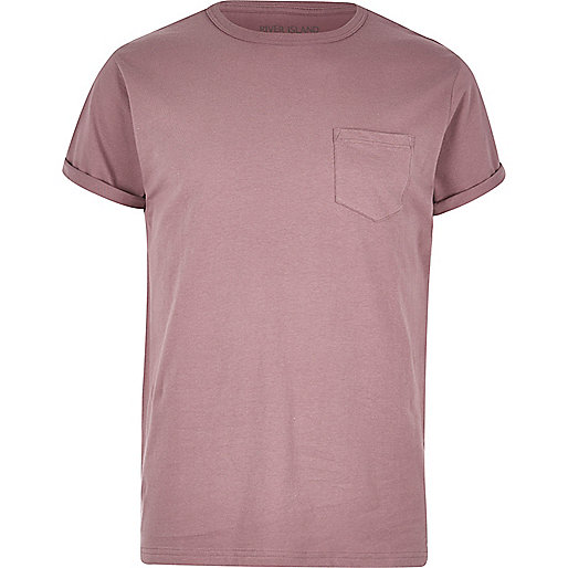 Pink chest pocket T-shirt