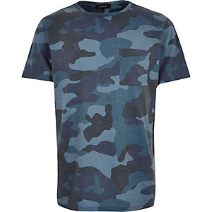 Navy camouflage t-shirt