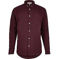 Burgundy Oxford shirt