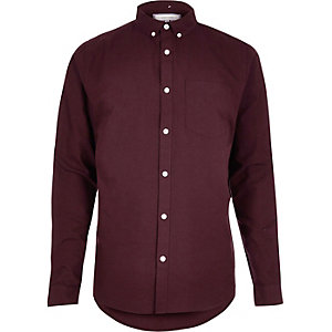 Burgundy Oxford shirt