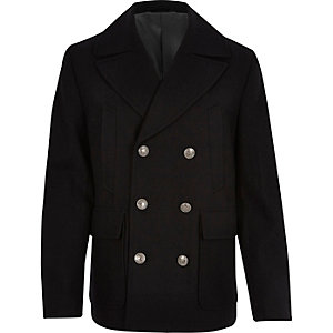 Navy smart pea coat
