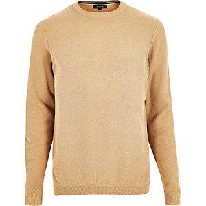 Camel textured jumper