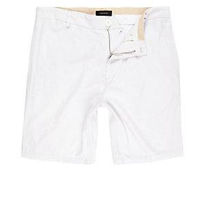 White linen slim ift chino shorts