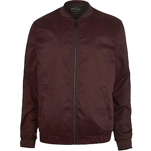 Dark red bomber jacket