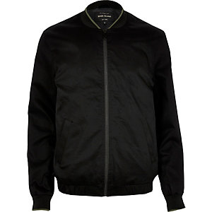 Black tipped bomber jacket