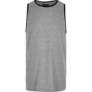 Grey ringer neck tank