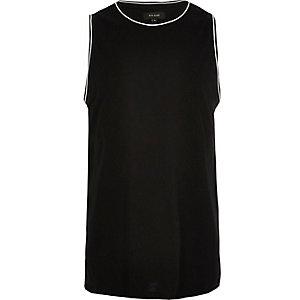 Black ringer neck tank top
