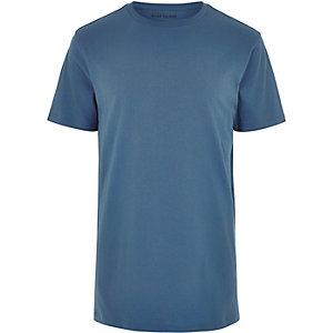 Blue longline t-shirt