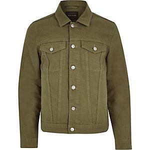 Dark green denim jacket