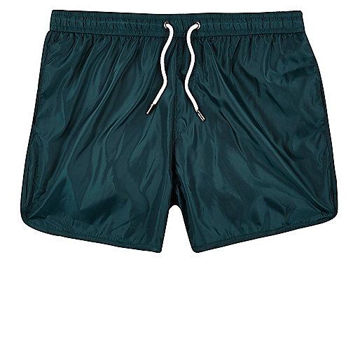Turquoise runner swim trunks
