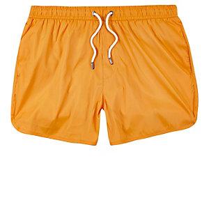 Orange runner swim trunks