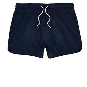 Navy runner swim trunks