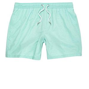 Mint green swim shorts